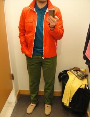 Veste orange en nylon 79.95 $