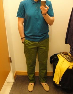 Polo bleu 39.95 $ et khaki vert 59.95 $
