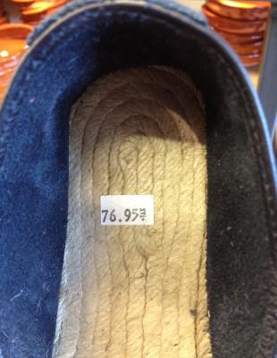 Espadrille cuir 77 $