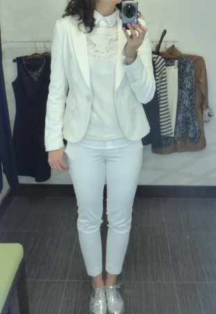 tailleur blanc rw&co