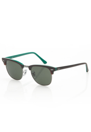 Clubmaster Sunglasses in Teal and Tortoise