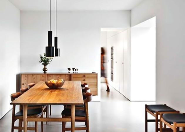 Revêtement plancher béton vs mobilier vintage