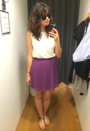 cami 9,90$ - jupe plissée 19,90$