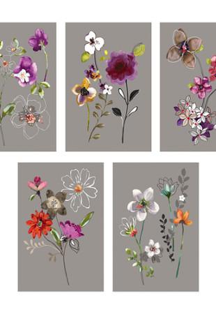 Cartes à fleurs en guise de cadre KORT Ikea 2$ pour 5