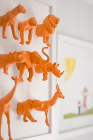 DIY cadre de petits animaux tronqués