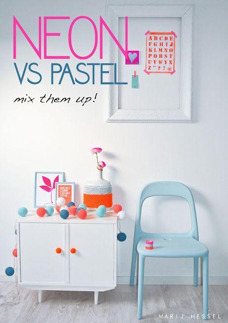 décoration néon et pastel