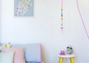chambre pastel et néon