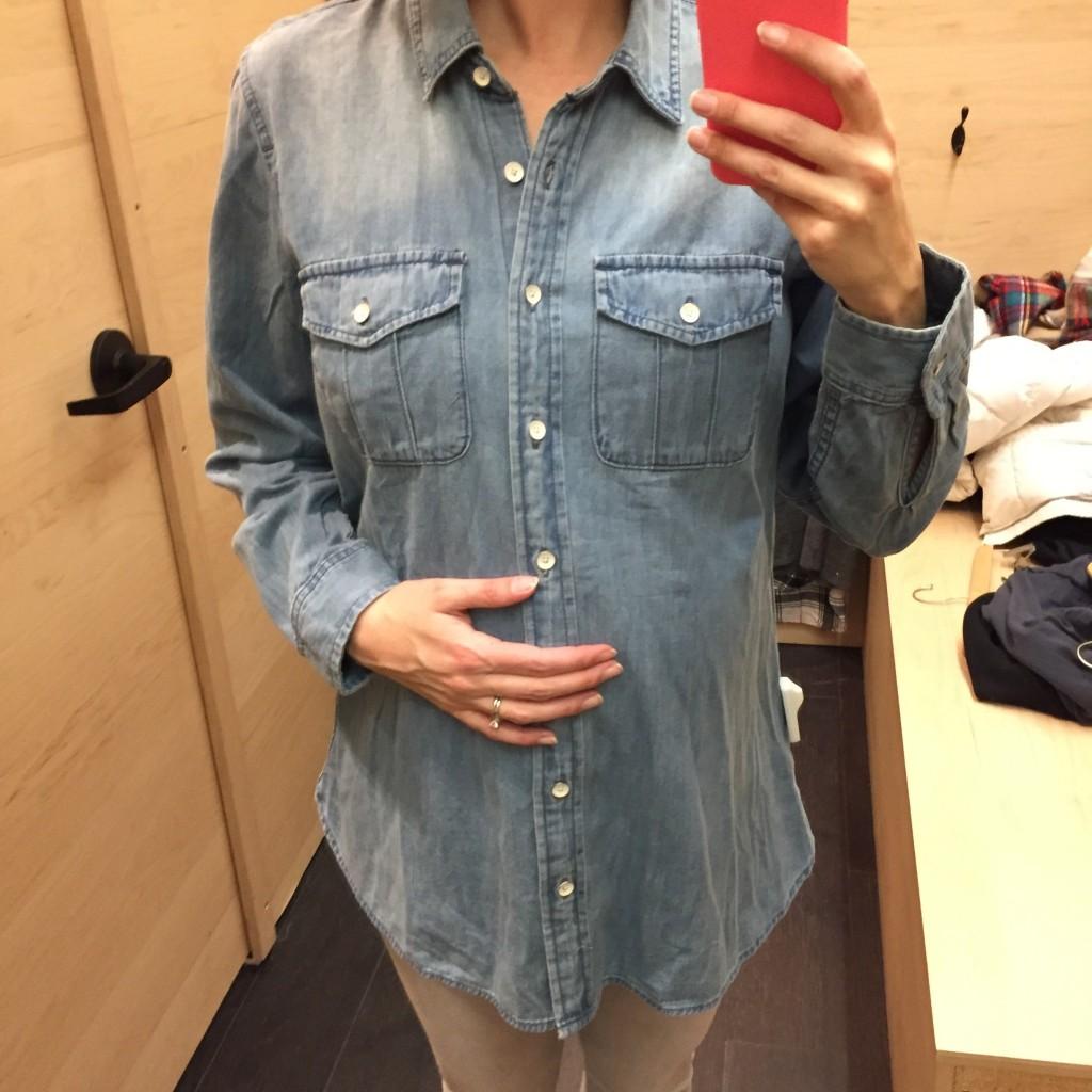 chemise denim gap maternité