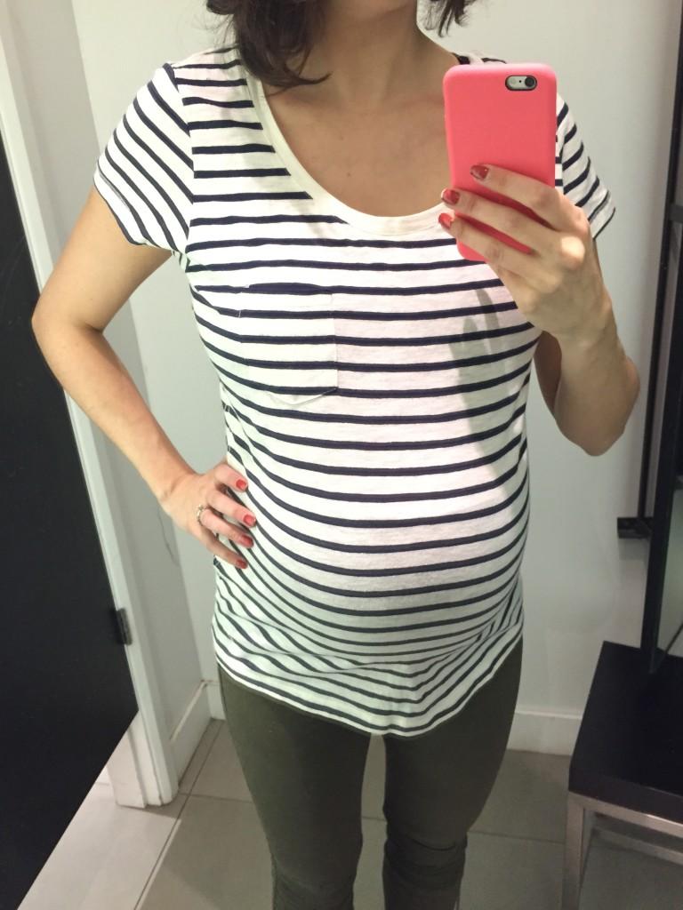 t-shirt maternité chez H&M