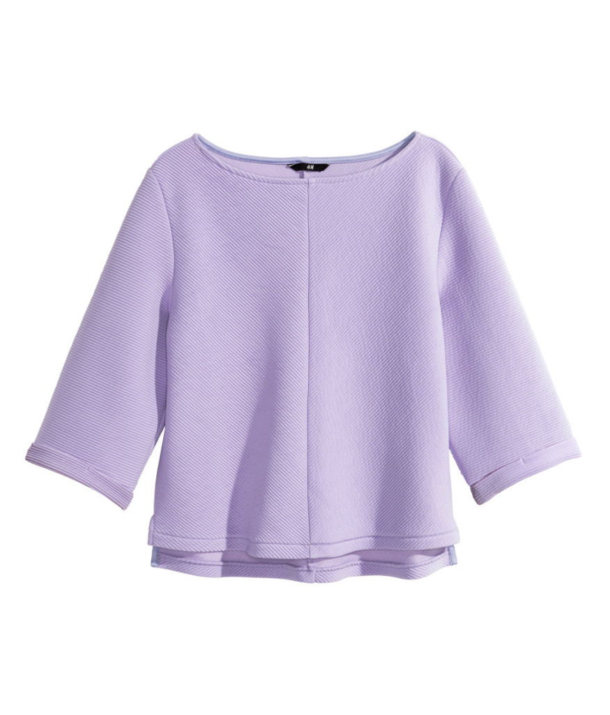 chandail ample lilas 19,95$