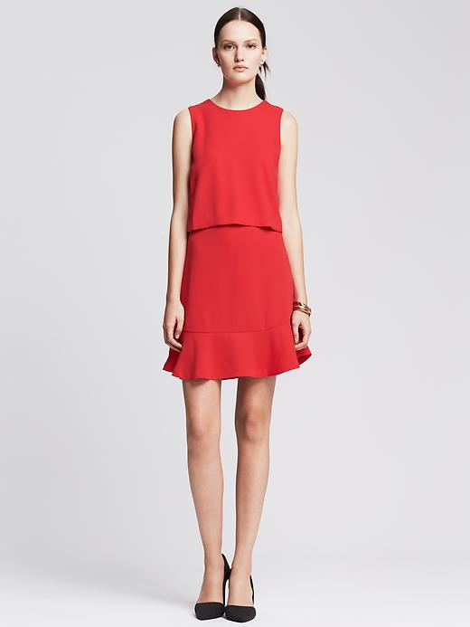 robe rouge banana republic