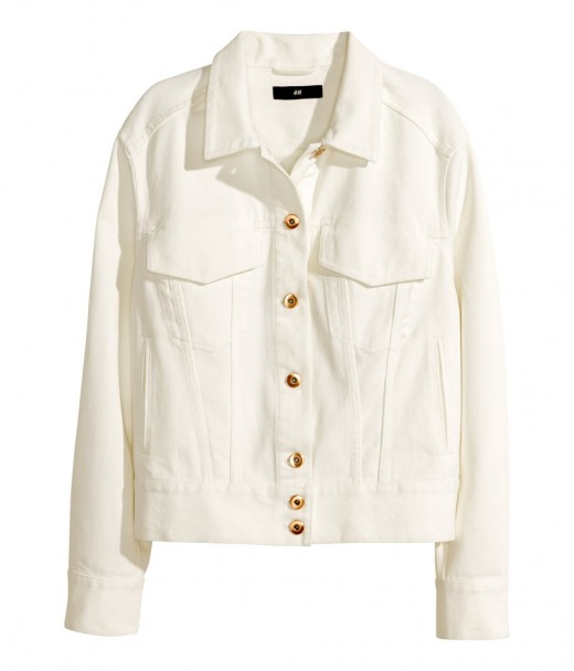 H&M veste de jeans blanche