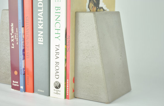 FMC Design Appui-livres en béton 70$ environ