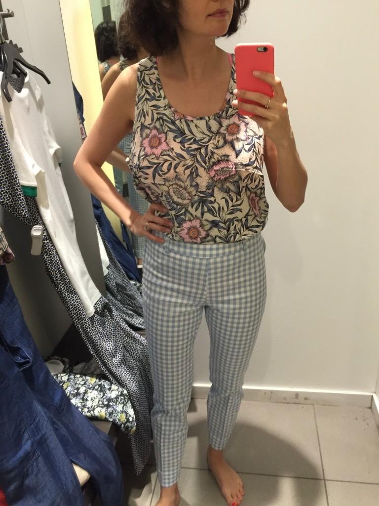 Cami H&M et pantalons vichy
