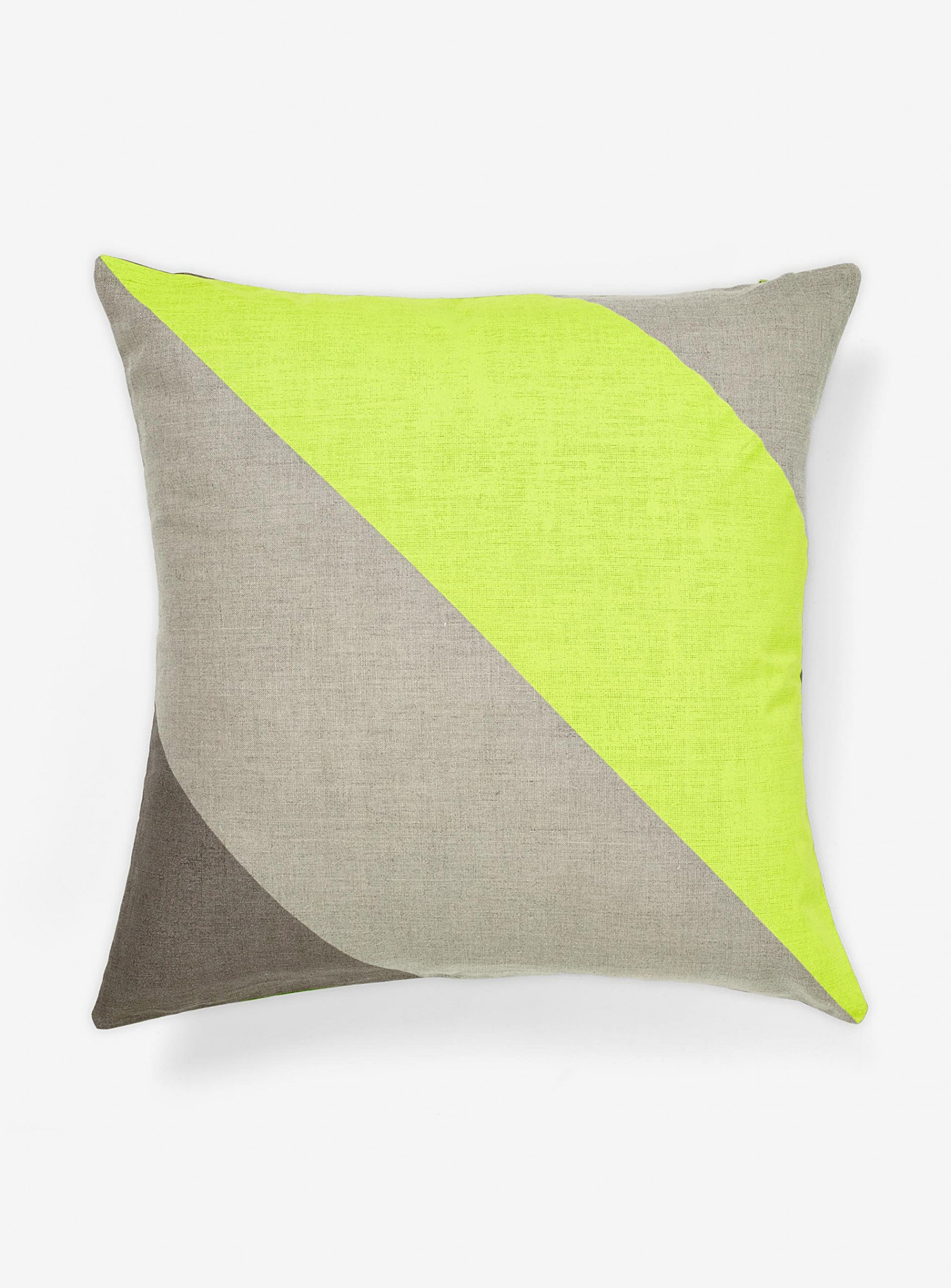 Rayure fluo_coussin