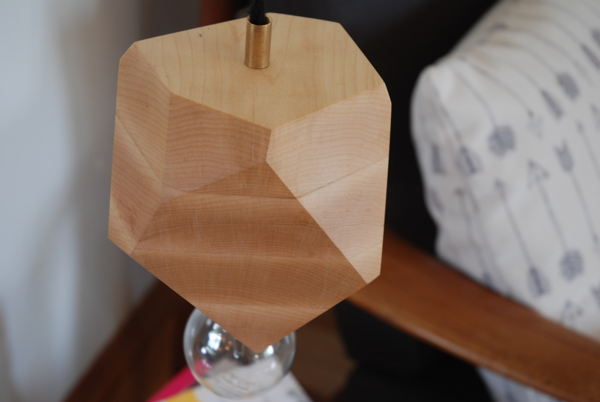 Maple faceted Wood Block