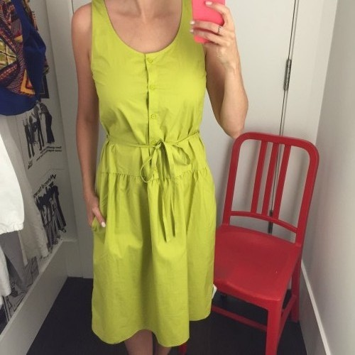 robe jaune gap