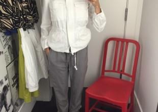 pantalon gris gap