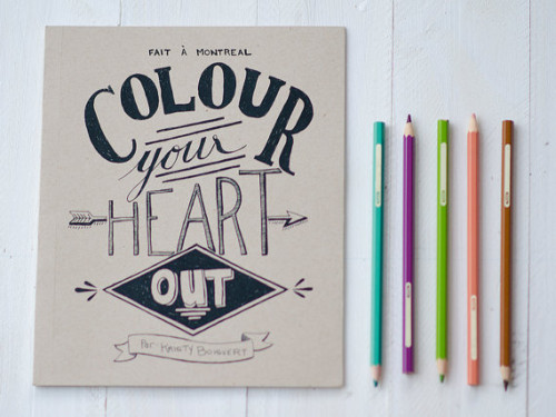 Colour your heart out par Fox Point Paper - 11,50$