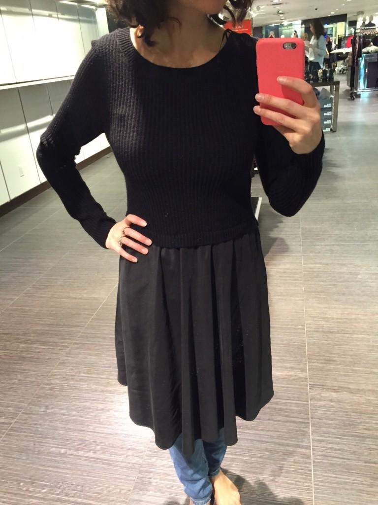 robe tricot et jupe évasée 41,98$