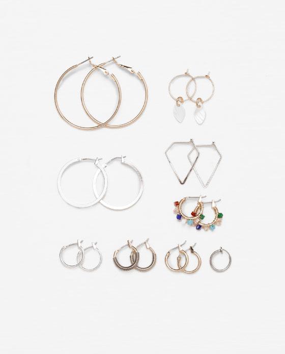 Ensemble de 8 boucles d'oreilles Zara a 19,90$