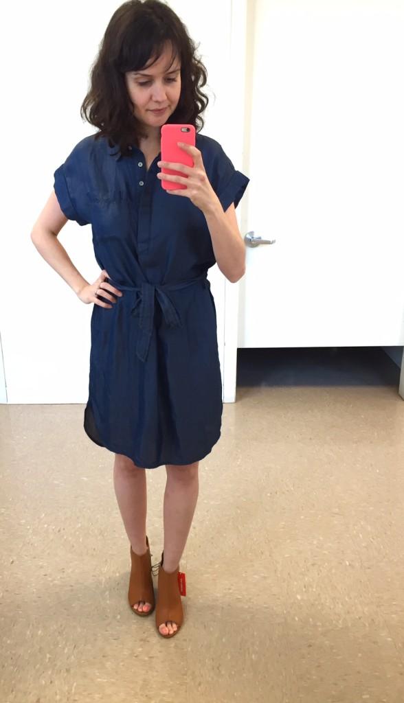 robe en denim 100% tencel 39$ (aussi dispo en bleu pâle)