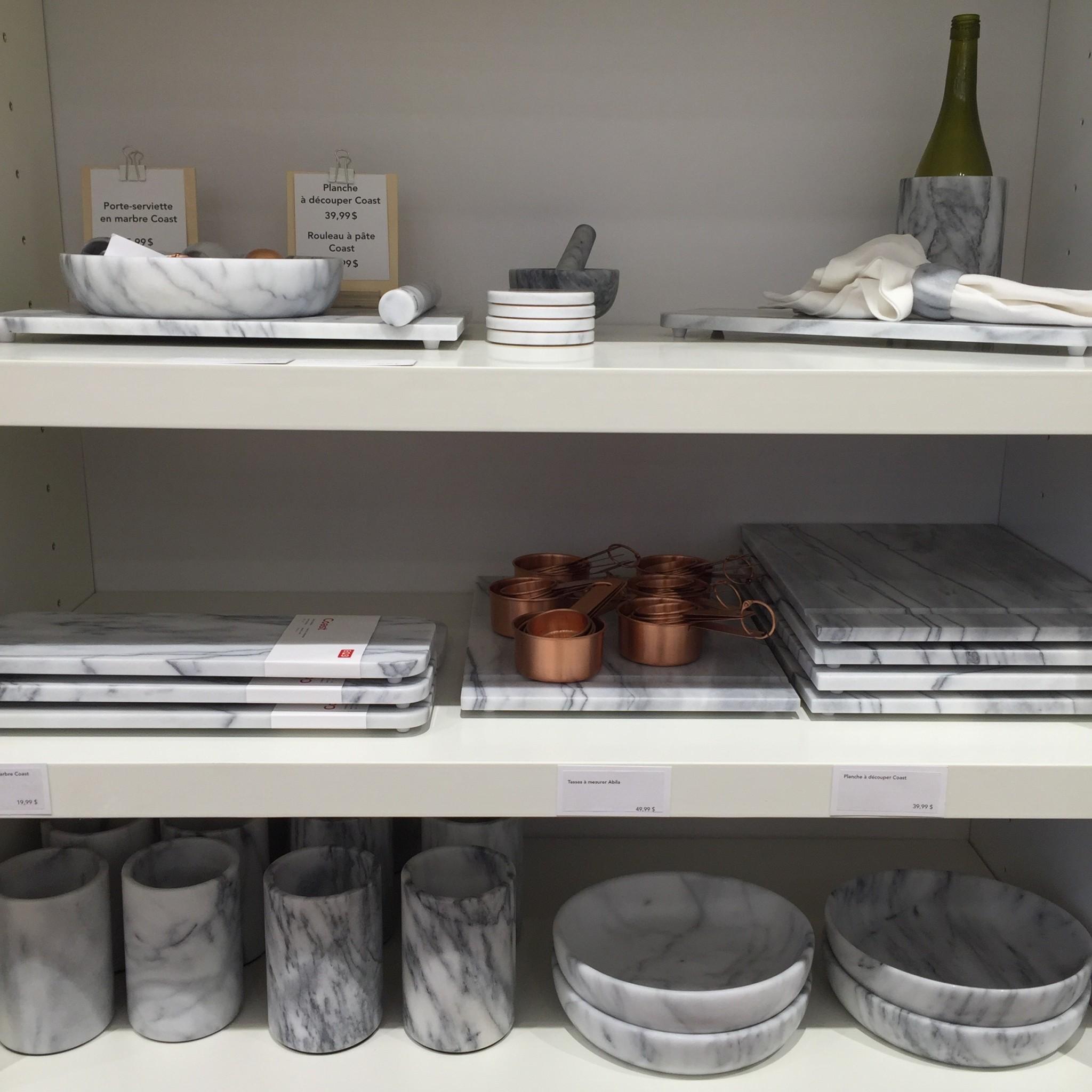 Collection Coast - Accessoires cuisine en marbre (prix variables)