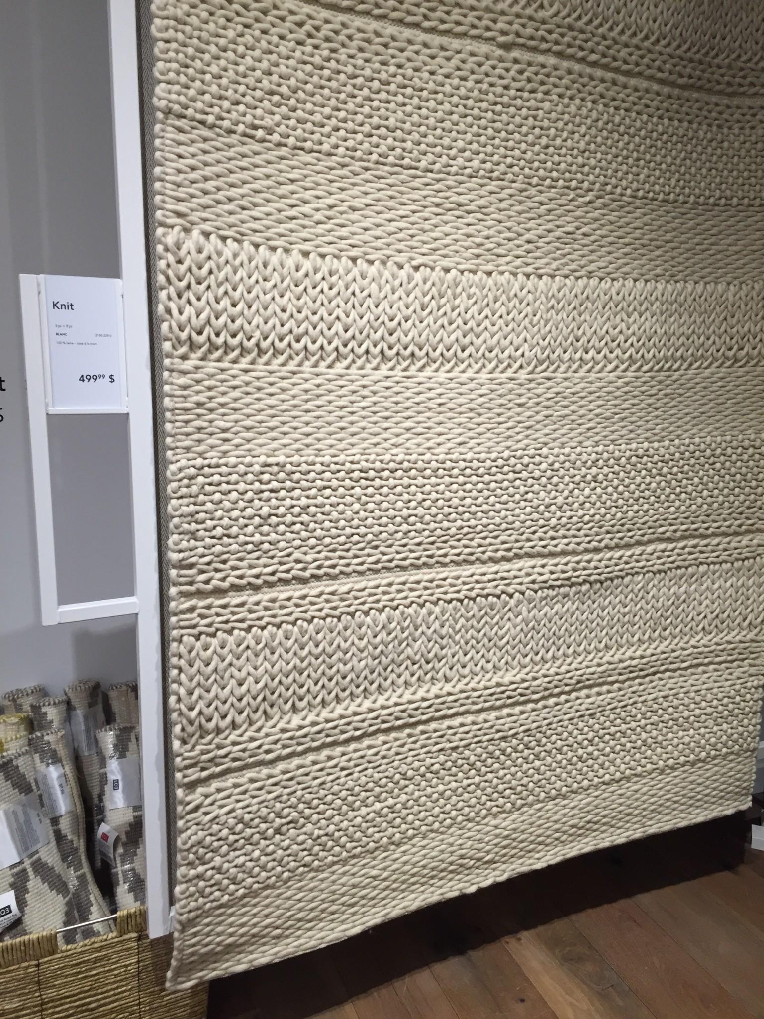 Tapis Knit 5x8 à 499$ (aussi dispo en 8x10 à