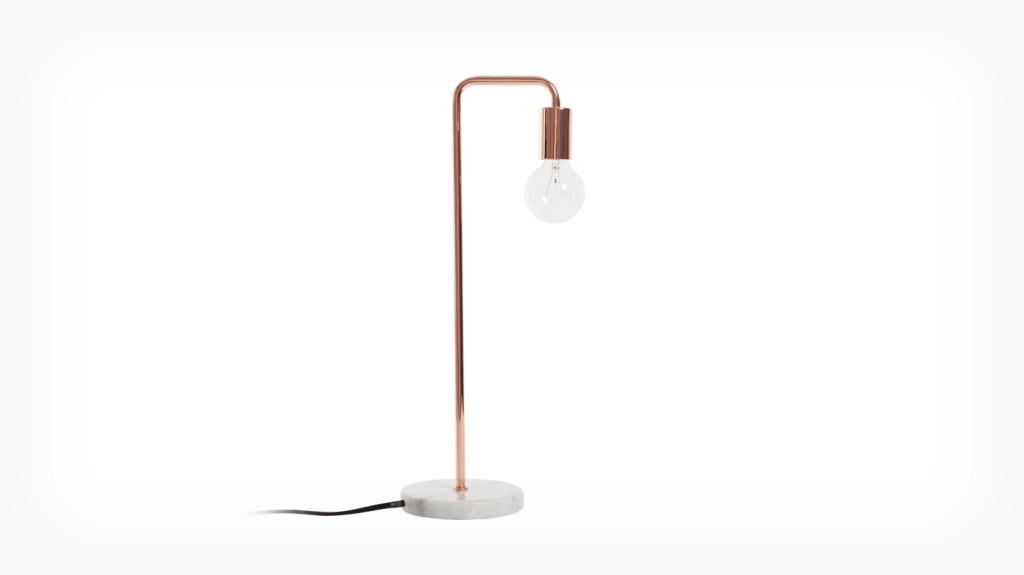 Lampe de table marbre et cuivre EQ3 129$