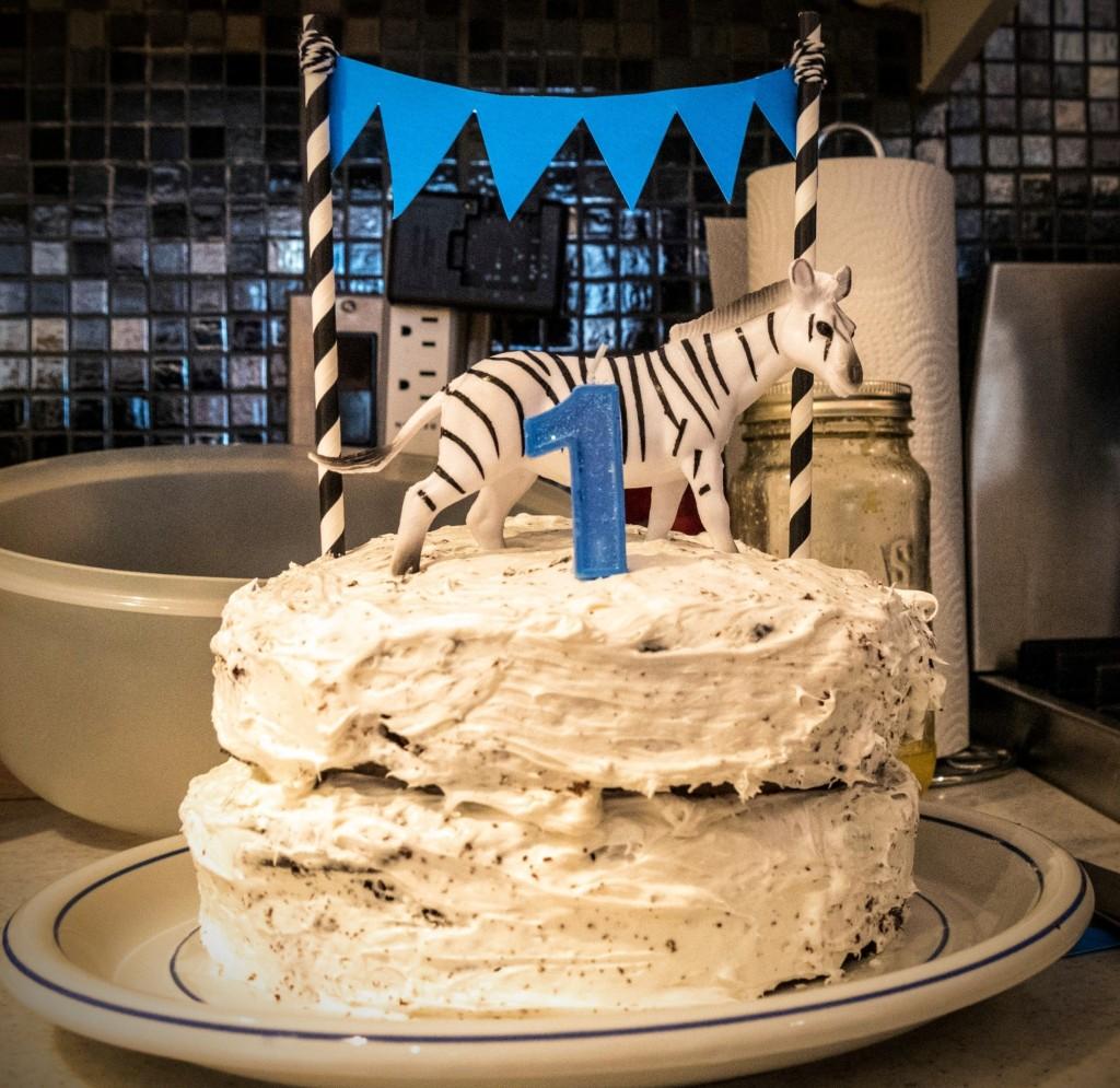 Gâteau version réalité - photo par beau-papa Morrie Glick