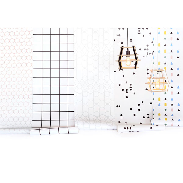 Papier peint motifs variés 69$