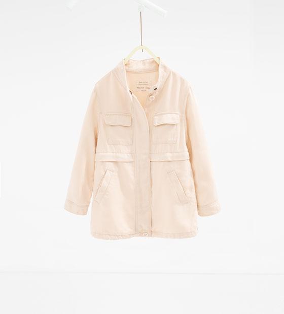 Veste en lyocell pour filles (4 à 14 ans) Zara 35,99$ (au lieu de 45,90$)