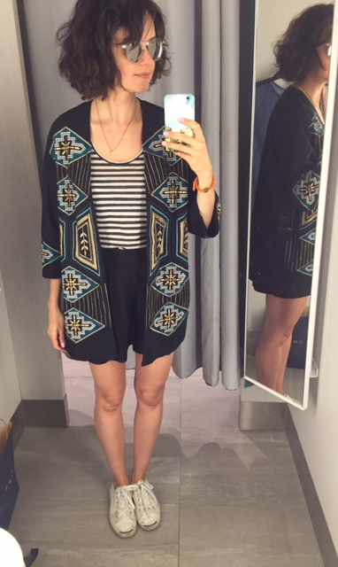 Kimono en liquidation à 40$ - cami Conscious 12,99$ - short 14,99$ H&M