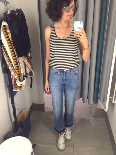 cami 12$ et jeans kick flare 34,99$