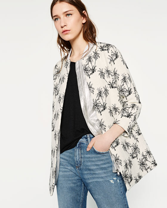redingote palmier Zara 49,99$
