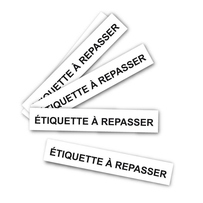 Étiquette à repasser Clément - 75$ pour