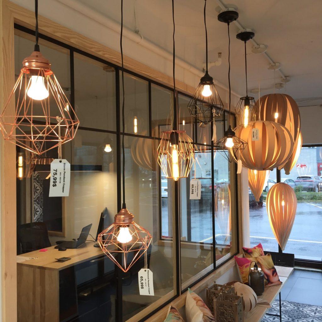 Coup d'oeil sur les luminaires à La Galerie du Design