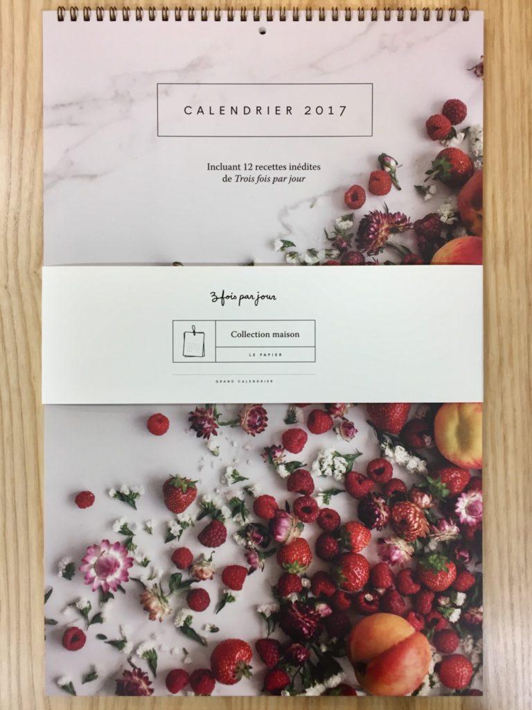 Calendrier 2017 3 fois par jour à la Galerie du Design