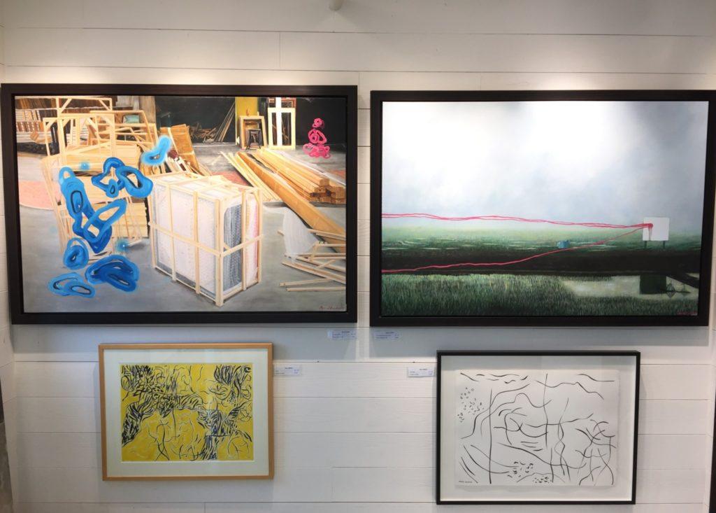 Tableaux d'artistes locaux - prix variés - La Galerie du Design