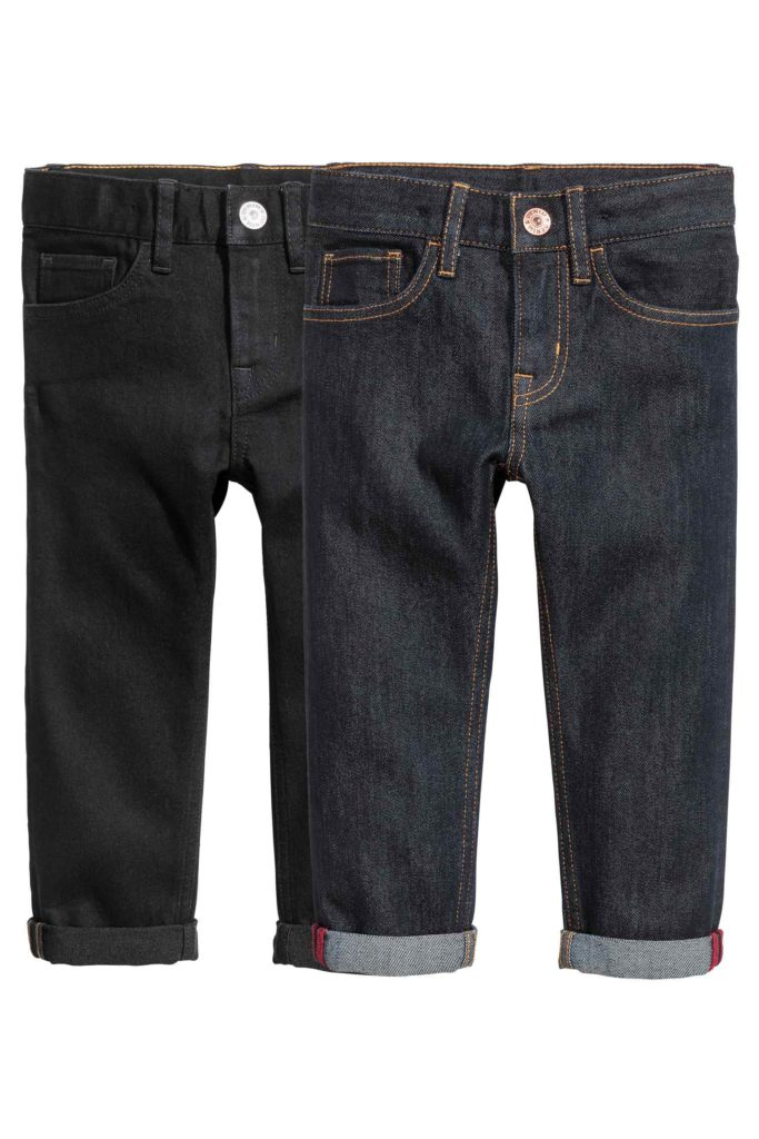 H&M 2 skinny jeans pour 19,99$