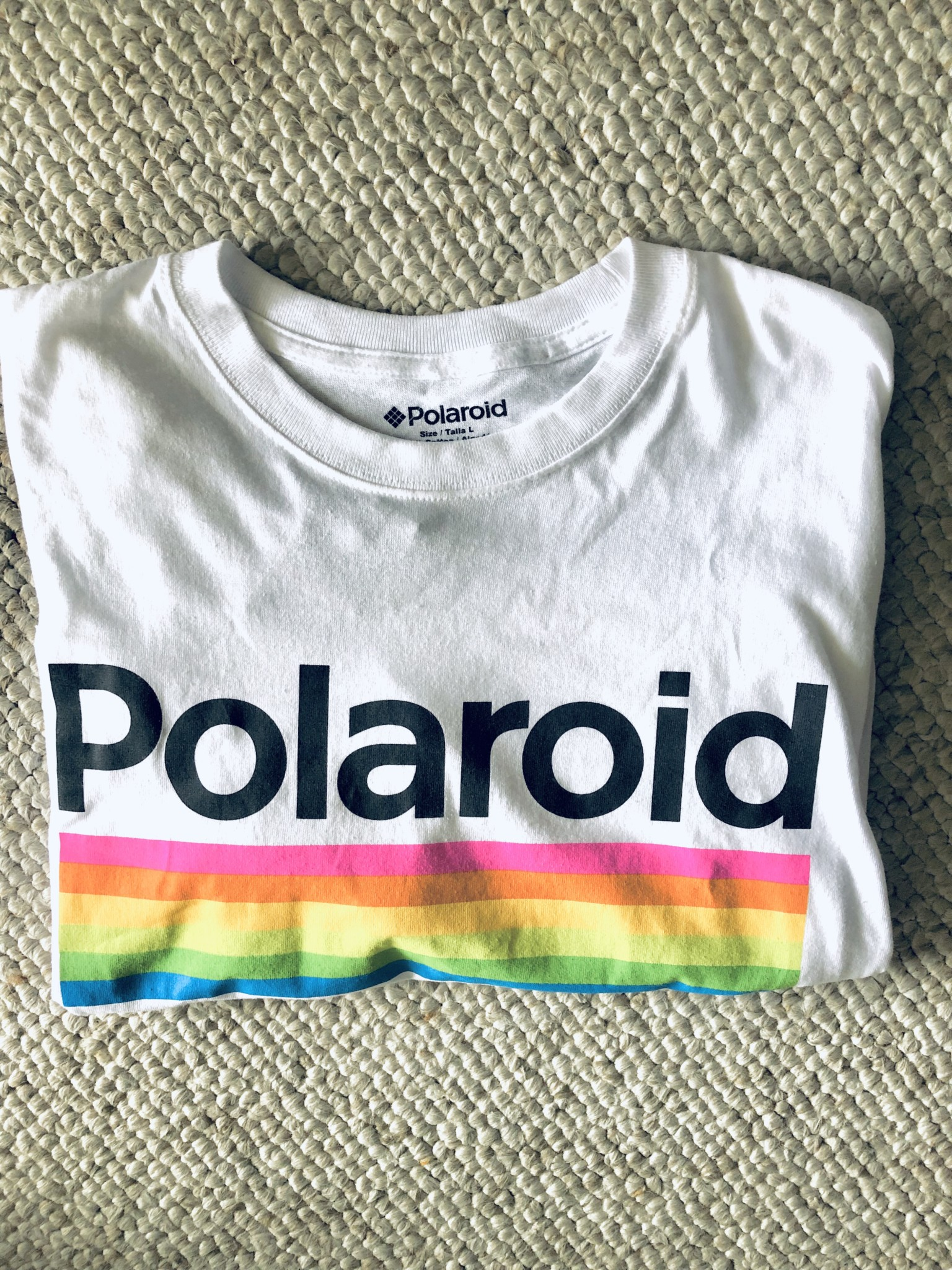 T-shirt Polaroid en liquidation à 3,99$